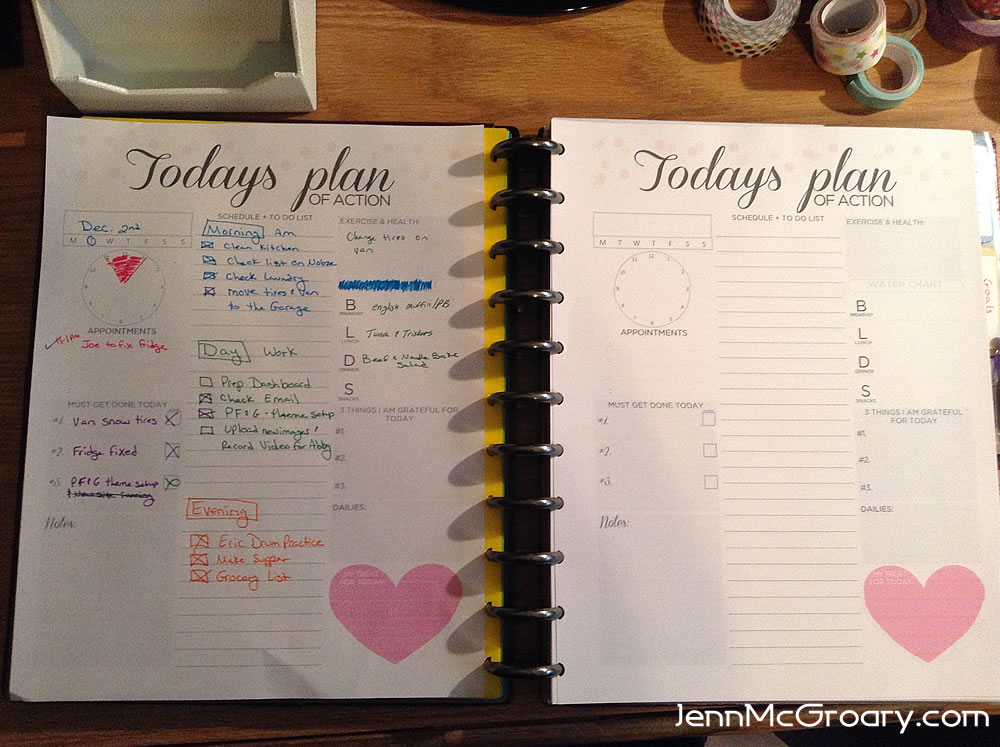 Daily To Do Action planner