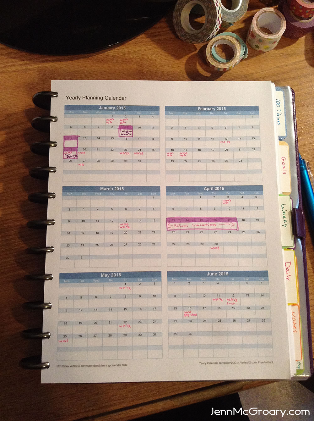 plan for next year a year at a glance