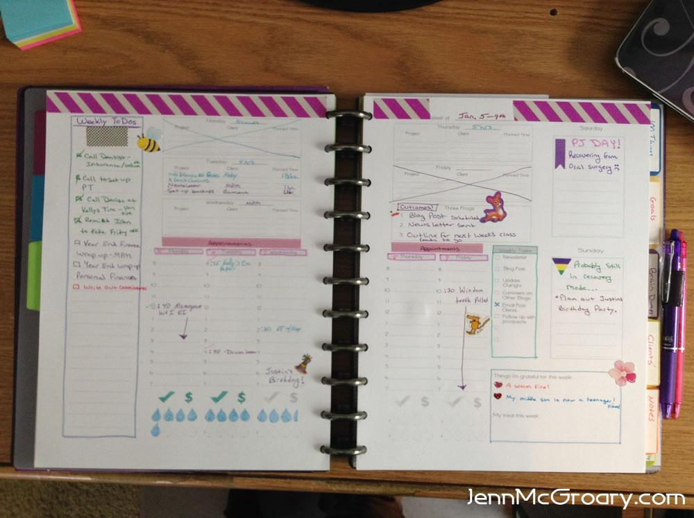 Updated planner worksheets